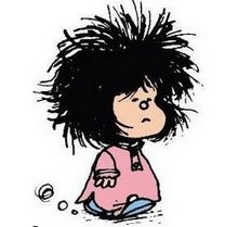 Vivir despeinada......Mafalda una grande!